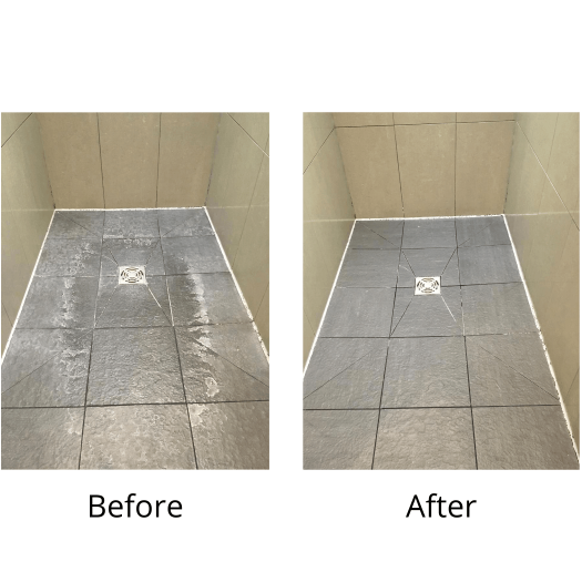 Limescale remover before and after