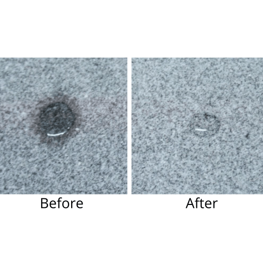 Polished Granite Sealer before and after